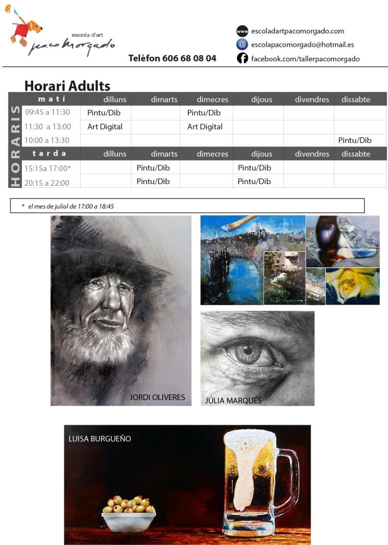 horaris adults 2018 web